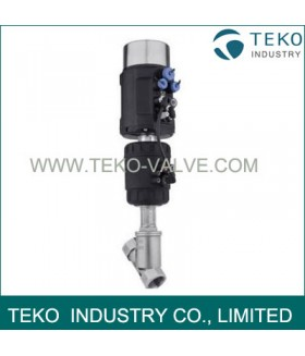 Pneumatically operated 2/2 way Angle-Seat Valve, With Positioner