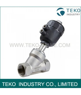 Weld End Piston Angle Seat Valve, Pneumatic Angle Seat Valve