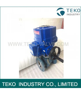 ISO 5211 Mounted Electric Actuated Regulating Control Flanged Ball Valve