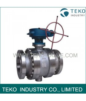Trunnion Mounted Gear Operated Ball Valves