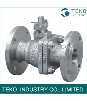 Stainless Steel 2 Way Flanged Ball Valves