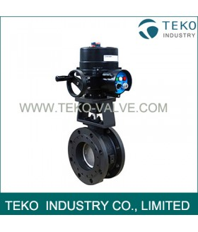 Electric Actuated Regulating API609 Butterfly Valve Fire Safe Seat With 4-20mA Positioner