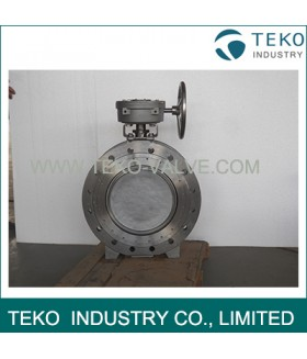 Steam High Performance Butterfly Valves , Double Offset Butterfly Valve Metal To Metal Seat
