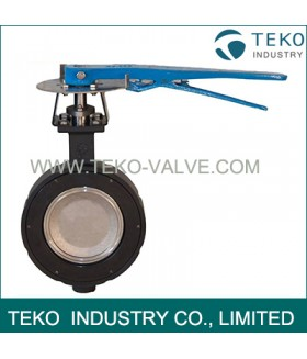 Wafer End Connection Double Eccentric Butterfly Valve With Reliable Sealing Performance