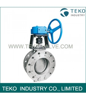 Flange End Carbon Steel Butterfly Valve Lever Operation For High Pressure Water