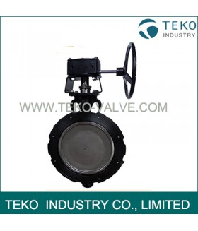High Cycle Worm Gear Metal Seated Butterfly Valve Minimal Wear With Zero Leakage