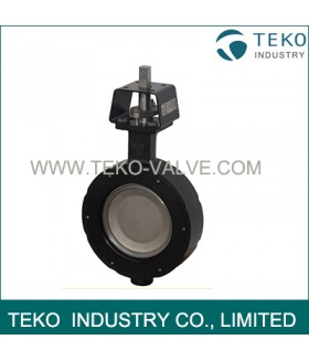 High Strength 24 Inch Wafer Lug Butterfly Valve With Pneumatic / Electric Actuator