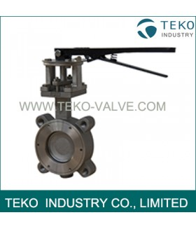 Lever Operations High Performance Butterfly Valves Metal Seated For High Temp Service