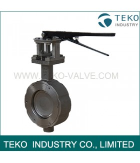Metal Seated High Temperature Butterfly Valve Anti - Leakage With Long Service Life