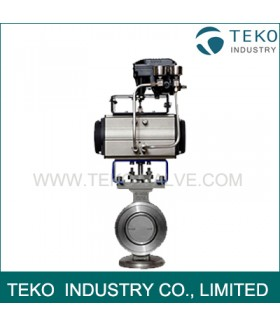 4 Inch High Performance Butterfly Valves Pneumatic Actuated Modulating With YTC Positioner