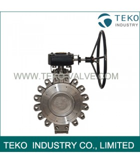 High Temp Solid Lug Butterfly Valve Excellent Corrosion Resistance For Pipe End