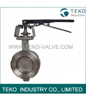 Stainless Steel Body High Performance Butterfly Valves Wafer End Bidirectional Seal