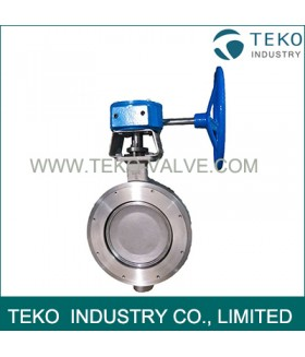 Carbon Steel High Performance Butterfly Valves , Flanged Butterfly Valve With Bubble Tight Shutoff