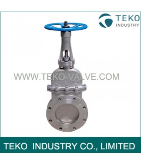 Completed Closed Knife Valve , Bonneted Design Cast Steel Valves With No Emission