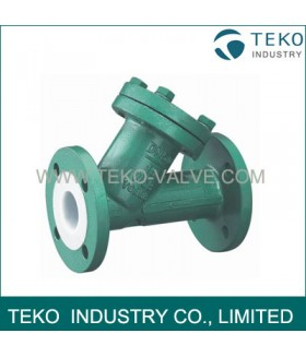 PTFE Lined Y-type strainer
