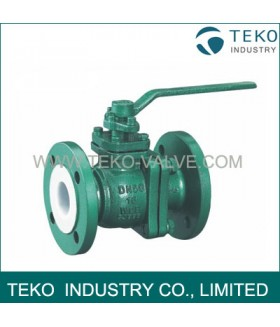 PTFE-lining Ball Valve, PFA-lined  ball valve
