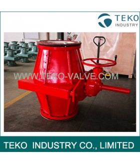 Epoxy Coating Body Packing Gear Slurry Pinch Valve For Water Plant Less Zero Leakage Bevel