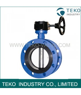 API609 Double Flanged Butterfly Valve