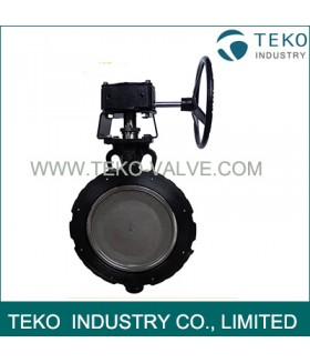 "Carbon Steel Eccentric Butterfly Valve , 600LB 8"" Fully Lugged Butterfly Valve"