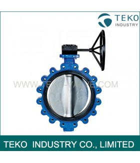 Gear Operation API609 Butterfly Valve , JIS 10K Drilled Cast Iron Butterfly Valve For Water Prifie