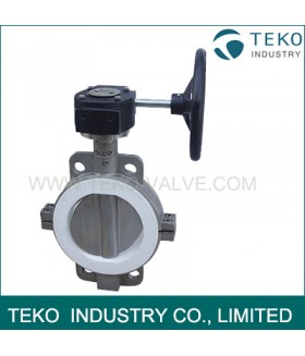 PTFE Seated API609 Butterfly Valve Corrosion Resistant Split Body For Chemical Liquid