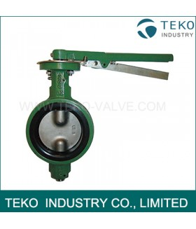 Two Piece Shaft Wafer Type Butterfly Valve Concentric Design For Water Works